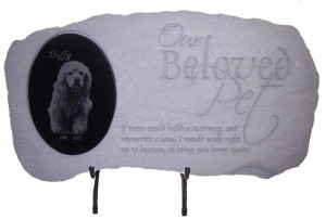 Pet Memorial Stones- Our Beloved Pet with Photo Memorial
