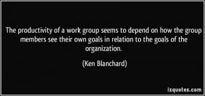 The productivity of a work group seems to depend on how the group ...
