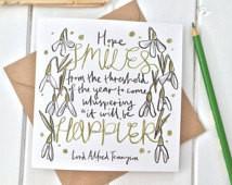 Citazione letteraria capodanno carta - Alfred Tennyson citazione con ...