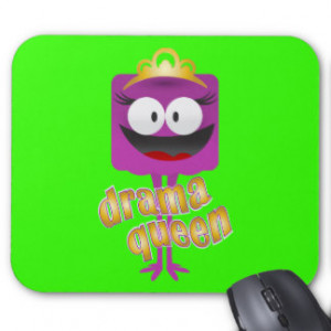 Drama Queen - Royal Creature of Chaos Mouse Pads