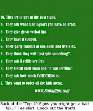 funny waitress quotes