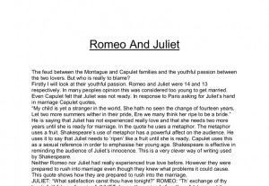 Romeo And Juliet Love Quotes From The Book Romeo and juliet essay