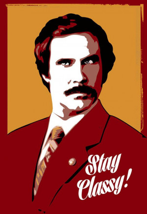 Ron Burgundy, Anchorman, Will Ferrell Pop Art illustration - Poster ...