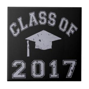 class_of_2017_graduation_grey_ceramic_tile ...