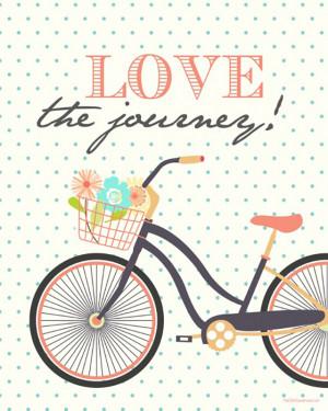 Love the journey. Van deze afbeelding met fiets word ik zo vrolijk ...