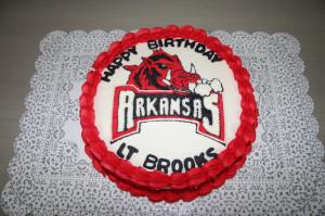 Arkansas Razorback Cake Image