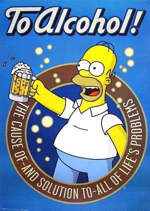 HOMER'S TOAST TO ALCOHOL