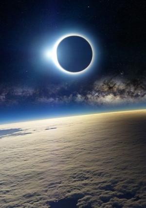 enial: Solar eclipse, as seen from Earth's orbit (source)