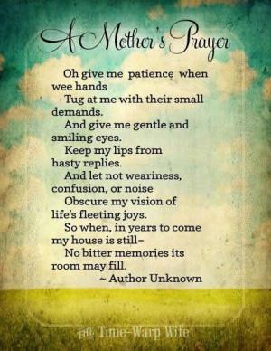 Mother's Prayer