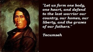 Tecumseh famous quotes 2