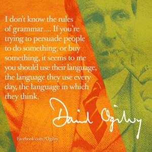 David Ogilvy quote