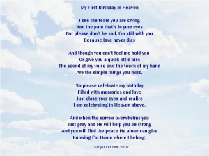 In pursuit of Birthday In Heaven quotes, sayings or quotations? We ...