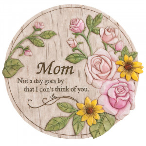 Round Memorial Garden Stone for Mom