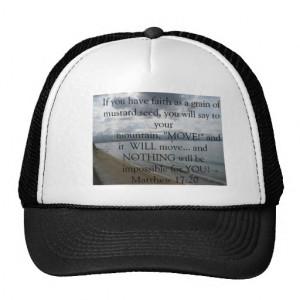 Matthew 17:20 - Motivational Inspirational Quote Hat