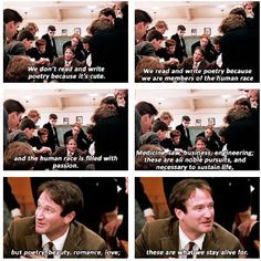 dead poet s society why we read and write poetry