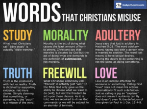 Words that christians Misuse