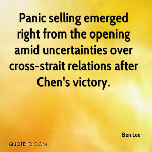 Panic selling emerged right from the opening amid uncertainties over ...