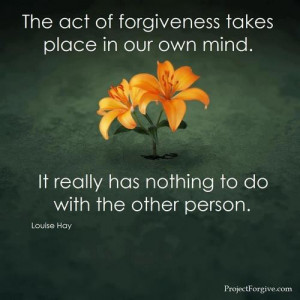 Exactly. True forgiveness means inner peace...I have it now... No ...
