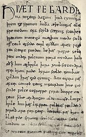 The Old English epic poem Beowulf is written in alliterative verse and ...