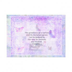 GANDHI Quote About Animal Rights Canvas Prints
