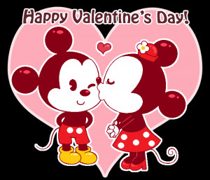 Mickey and Minnie Valentine by Kiss-the-Iconist