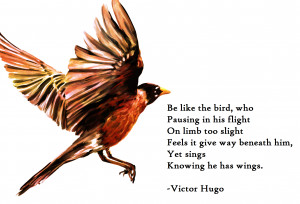 "bird…"" – Victor Hugo motivational inspirational love life quotes ..."