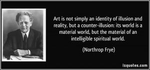 Art is not simply an identity of illusion and reality, but a counter ...