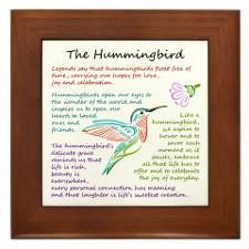 the hummingbird quote framed tile more hummingbirds quotes quotes ...