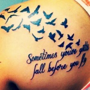 Fly Quote Bird Black Back Tattoo Uncategorized Tattoos Best Tats ...