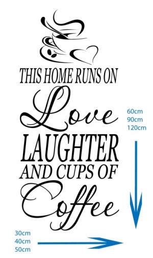Home Runs On Love Laughter Coffee - Kitchen/Diner/Lounge Vinyl Art ...