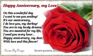 Anniversary Love Message