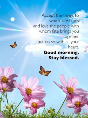 Good morning. Stay blessed.