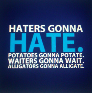 ... not a rant yeah i just wanted you here haters gonna hate quotes lol