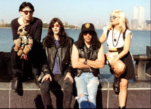 Chris Stein, Joey Ramone, Marky Ramone and Debbie Harry, on Liberty ...