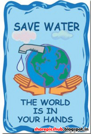 Save Water The World Is In Your Hands - Water Quote