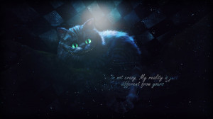 Cheshire Cat Wallpaper by Gillfeesh