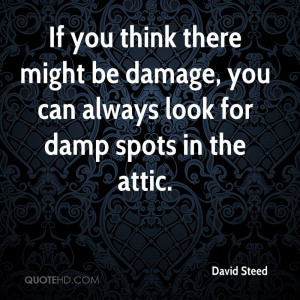 ... might be damage, you can always look for damp spots in the attic