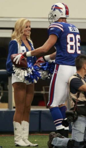 ... By Giving The Ball To His Girlfriend – A Dallas Cowboys Cheerleader