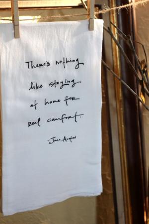Jane Austen Quote Dishtowel. $11.00, via Etsy.