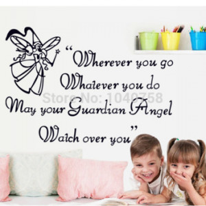 Removable Angel Love Wall Stickers Quotes and Sayings Decorative Wall ...