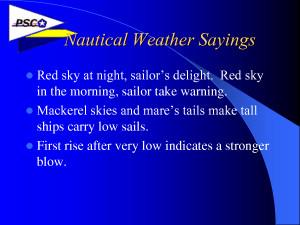 Nautical Weather Sayings by 08zTHnc