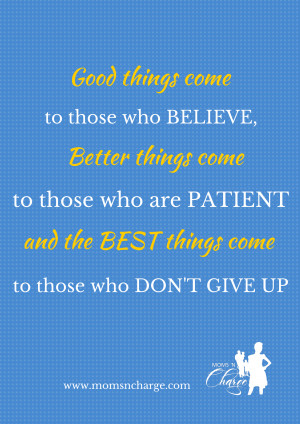 Motivational Monday: Don't Give Up (The Best is Yet to Come)