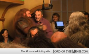 Apparently John-Rhys Davies visited the set of The Hobbit when they ...