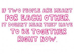 If two people are meant for each other