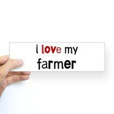 love my Farmer Bumper Bumper Sticker