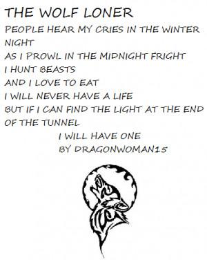 Wolf Love Poems Sad wolf poem by dragonwoman15