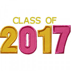 Class Of 2017 Sayings Varsity class of 2017 applique