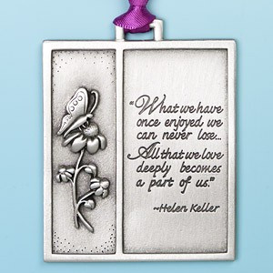 Helen Keller Remembrance Ornament: