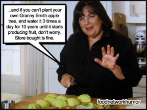 Food Network Humor » A Message From Ina Garten