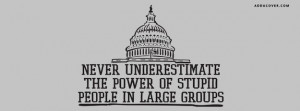Stupid People In Large Groups Facebook Cover
